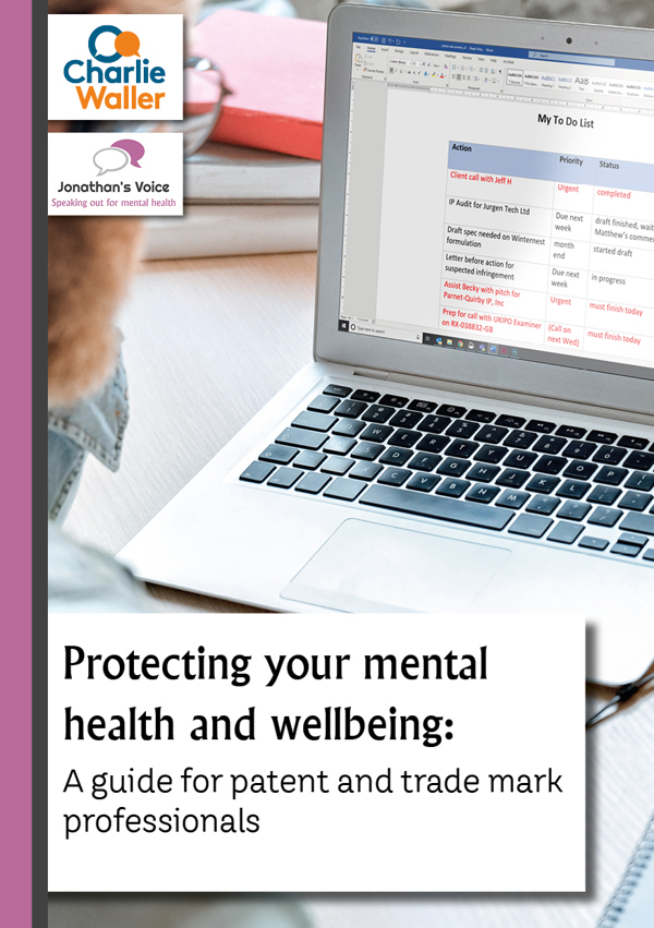 Protecting your mental health and wellbeing front cover