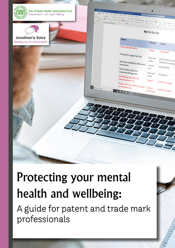 Protecting your mental health and wellbeing guide front cover